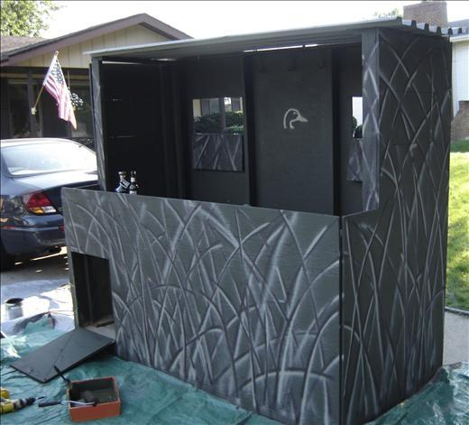 Duck Blind Build 2CoolFishing Hunting Pinterest Ducks - 520x471 - jpeg